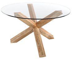 Table ronde teck naturel Sompta 130 cm