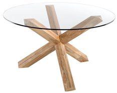 Table ronde teck naturel Sompta 140 cm