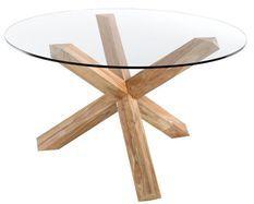 Table ronde teck naturel Sompta 150 cm
