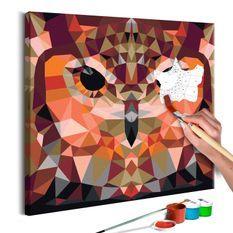 Tableau à peindre par soi-même Hibou géométrique
