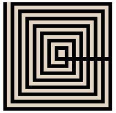 Tableau carré méthacrylate noir et brun Basic 50 cm