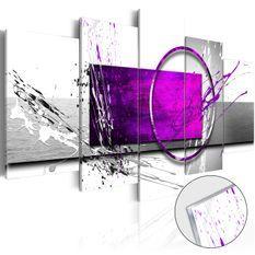 Tableau sur verre acrylique - Purple Expression [Glass]