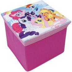 Tabouret de rangement pliable My little Pony