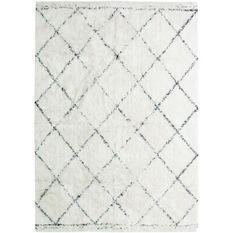 Tapis Berbere Losange - 190 x 290 cm - Ecru naturel