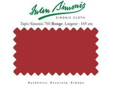 Tapis de billard Simonis 760 165 cm rouge