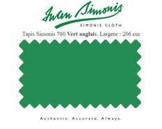 Tapis de billard Simonis 760 206 cm vert anglais