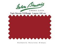 Tapis de billard Simonis 920 160 cm rouge