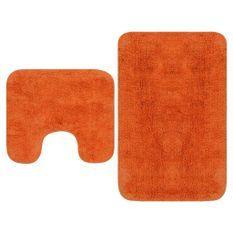 Tapis de salle de bain 2 pcs Tissu Orange