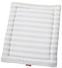 Tapis rectangulaire pour parc coton blanc à rayures Doucy