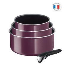 TEFAL - L2019102 - INGENIO ESSENTIAL - set de 4 pieces - Violet Byzantium - Fabriqué en France