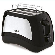 TEFAL TT131D16 Grille pain 2 fentes - 870W - 7 niveaux de brunissage - Levée automatique des toasts - Bac miettes démontable - Noir