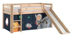 Tente pour lit mezzanine tissu bleu Space