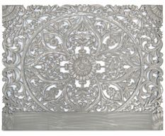 Tête de lit provençale bois sculpté gris Siera 160