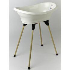 THERMOBABY KIT BAIGNOIRE VASCO Blanc Muguet : baignoire + pieds + tuyau de vidange