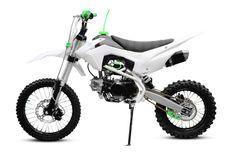Thunder 125cc V2 17/14 pouces manuel 4 vitesses verte Dirt bike