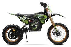 Tiger 1300W lithium 48V Moto cross électrique 14/12 vert