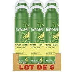 TIMOTEI Lot de 6 Sprays Fixant a l'Extrait Naturel de Citron Fixation Forte pendant 24h - 250ml