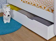 Tiroir de lit bébé combiné bois blanc Madrid