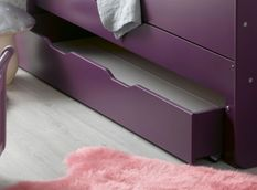 Tiroir de lit enfant évolutif bois violet Féroé