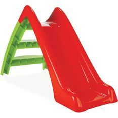 Toboggan 2 marches pour enfant - Rouge et vert