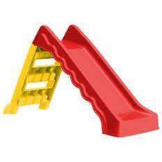 Toboggan pliable d'enfants Intérieur/Extérieur Rouge et jaune