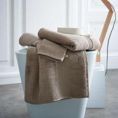 TODAY Drap de bain Premium - 100% coton 600 g/m²- 70 x 130 cm - Beige mastic