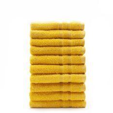 TODAY Lot de 10 Serviettes de toilette Safran - 100% Coton - 50 x 100 cm