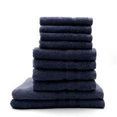 TODAY Lot de 4 Serviettes de bain 30x50cm + 4 Serviettes de bain 50x100 cm + 2 Draps de bain 70x130 cm Ciel d'orage - 100% coton