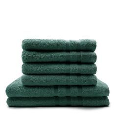 TODAY Lot de 4 Serviettes de bain 50 x 100 cm + 2 Draps de bain 70 x 130 cm Emeraude - 100% coton