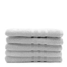 TODAY Lot de 5 Draps de bain Chantilly - 70 x 130 cm - 100% coton