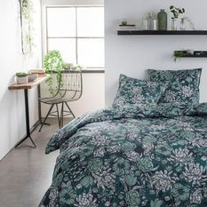 TODAY Parure de lit SUNSHINE 5.37 - 2 personnes - 220 x 240 cm coton - Imprimé Vert Floral