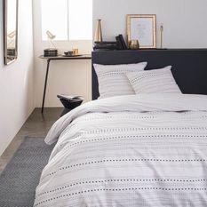 TODAY Parure de lit SUNSHINE 5.44 - 2 personnes - 240 x 260 cm coton - Imprimé Blanc Graphique