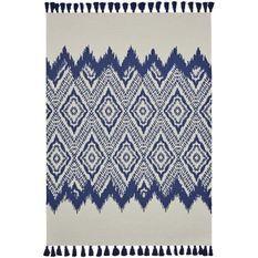 TODAY Tapis de salon Atmosphere - 120x170 cm - Coton imprimé bleu