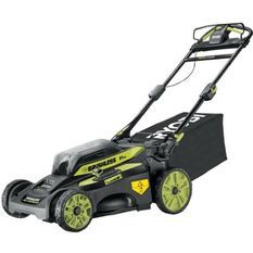 Tondeuse tractée RYOBI 36V LithiumPlus Brushless RY36LMX51A-160 - Coupe 51 cm - 1 batterie 6.0Ah - 1 chargeur rapide
