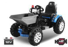 Tracteur électrique Bleu avec godet 2 x 30W