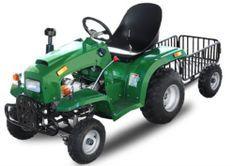 Tracteur enfant 110cc vert avec remorque