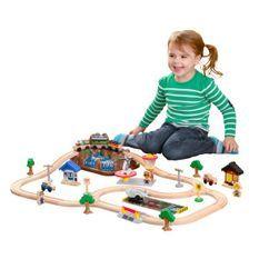 Train en bois enfant Bucket Construction Kidkraft 17805