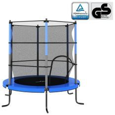 Trampoline avec filet de sécurité Rond 140x160 cm Bleu