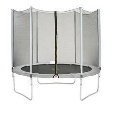 Trampoline MAXI ECO Ø 250 cm Gris - Avec Filet