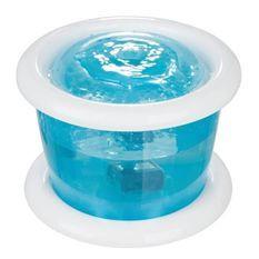 TRIXIE Distributeur automatique d'eau Bubble Stream 3l - Bleu et blanc - Pour chien