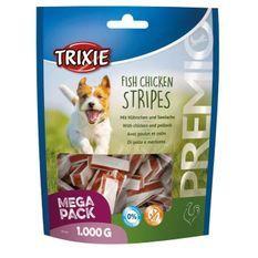 TRIXIE Stripes au Poisson et Poulet - 1kg - Pour chien
