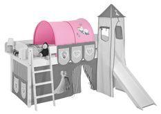 Tunnel rose Disney Reine des neiges pour lit mezzanine enfant