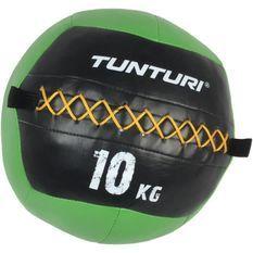 TUNTURI Balle murale wall ball crossfit 10kg vert