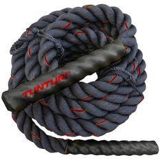TUNTURI Corde ondulatoire de musculation battle rope crossfit 9m noire
