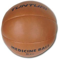 TUNTURI Medicine Ball - Cuir - 5kg