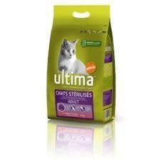 ULTIMA - Croquettes pour chat stérilisé au saumon - 3kg