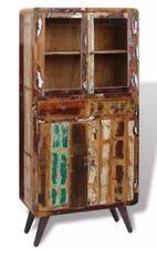Vaisselier 4 portes 2 tiroirs bois massif recyclé Moust