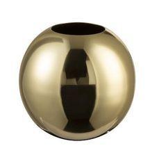 Vase boule métal doré brillant Narsh 14 cm