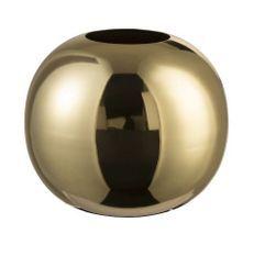 Vase boule métal doré brillant Narsh