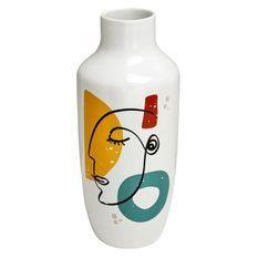 Vase céramique Arty - Blanc et multicouleur